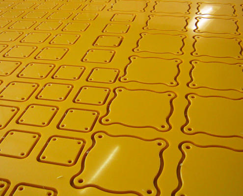 10 mm Polyethylene Cover Plates CNC Routed by Routers Australia, Perth