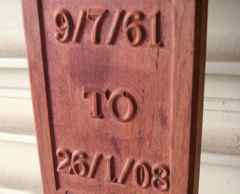 Hardwood relief engraving CNC routed by Routers Australia, Perth