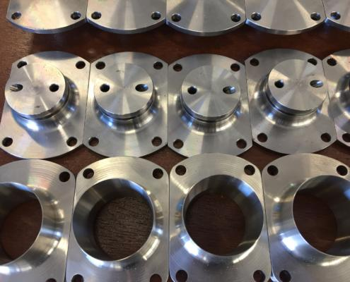 CNC Machined Components made from various materials