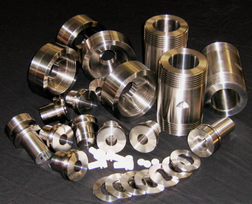316 Stainless Steel high pressure vessels with Teflon holders CNC machined by Routers Australia, Perth