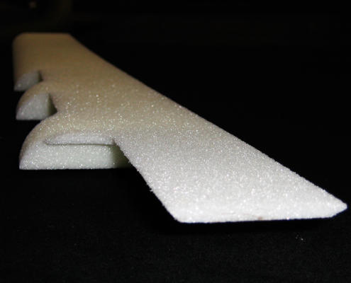 Rohacell Aerospace foam component for Nearmap camera pod CNC routed by Routers Australia, Perth