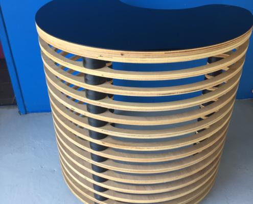 Awesome Conference Table Made from CNC cut plywood and plastic spacers. All Routed on CNC Router by Routers Australia.