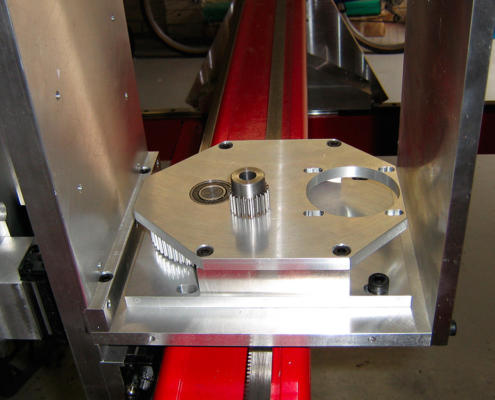 Aluminium belt drive gearbox manufactured by Routers Australia, Perth