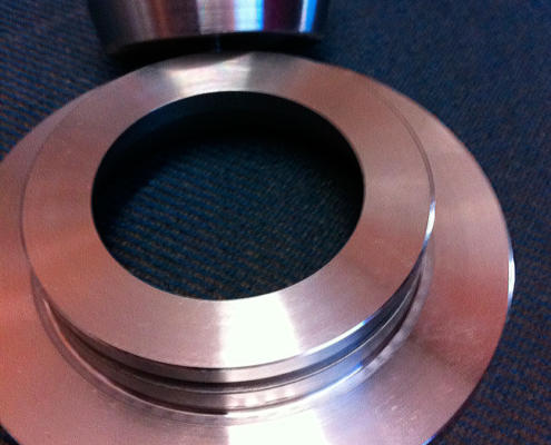 Special steel alloy precision machined valve, CNC machined by Routers Australia, Perth