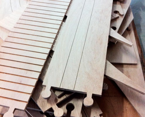 CNC routed plywood for prototype railway for iron ore mine. CNC routing by Routers Australia