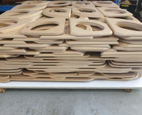 Speaker surrounds for 4 wheel drive vehicles cut from MDF by Routers Australia