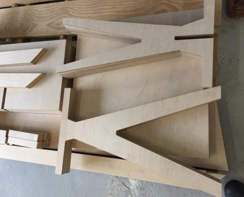 Tables for Treehouse Tapas and Wine Bar in Pemberton WA CNC cut from AA marine ply by Routers Australia