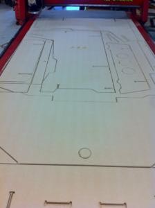 CNC ROUTING OF PARTS FOR FLIGHT SIMULATOR