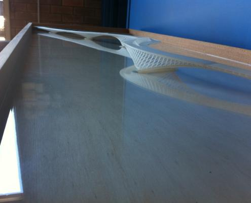 Model of proposed Swan River footbridge