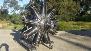 Original Clerget 9B rotary aircraft engine