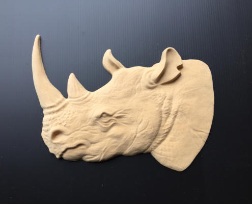 3D Rhino head. CNC Routing MDF by Routers Australia