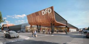 Artist's impression of new DFO Shopping Complex at Perth Airport