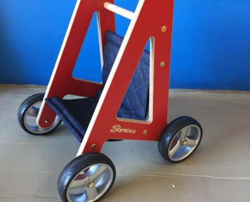 Baby walker prototype, CNC routed from MAXI Plywood for Shmoon by Routers Australia
